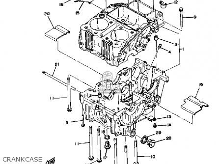 Yamaha Xs400 1979 Usa parts list partsmanual partsfiche