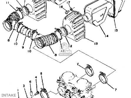 Yamaha Xs400 1979 Usa parts list partsmanual partsfiche