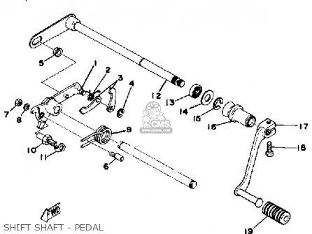 Yamaha Xs400 1981 Usa parts list partsmanual partsfiche