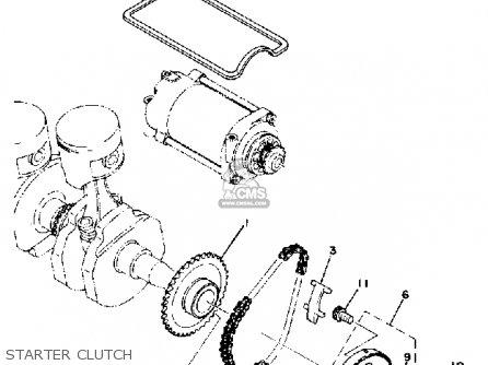 Yamaha XS400 1981 USA parts lists and schematics