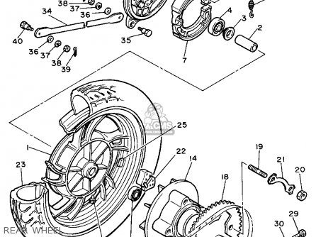 Yamaha Xs400 1982 Maxim Usa parts list partsmanual partsfiche