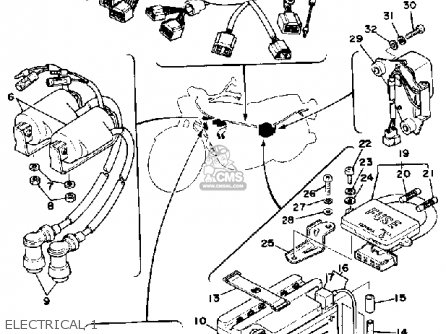 Yamaha XS400-2 1978 USA parts lists and schematics