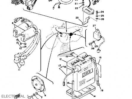 Yamaha Xs400-2 1979 Usa parts list partsmanual partsfiche
