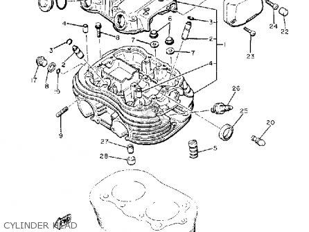 Yamaha Xs400-2 Special 1980 (a) Usa parts list partsmanual