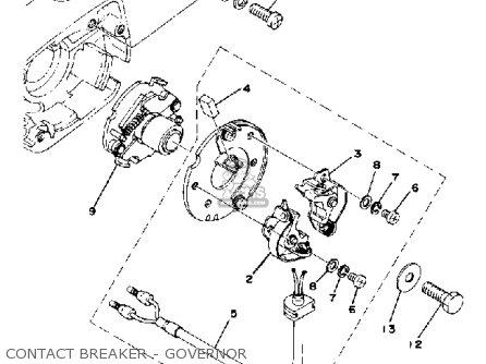 Yamaha Xs400-2e 1978 parts list partsmanual partsfiche
