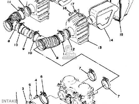 Yamaha Xs400-2f 1979 parts list partsmanual partsfiche