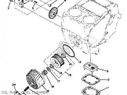 Yamaha Xs400-2f 1979 parts list partsmanual partsfiche