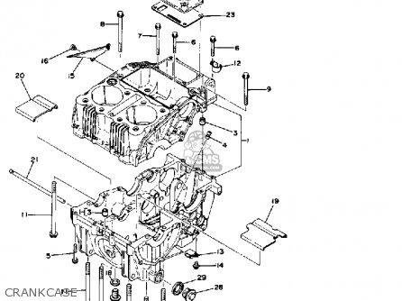 Yamaha Xs400e 1978 parts list partsmanual partsfiche