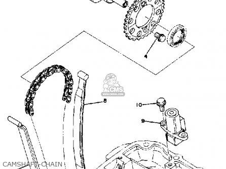 Yamaha Xs400h 1981 parts list partsmanual partsfiche