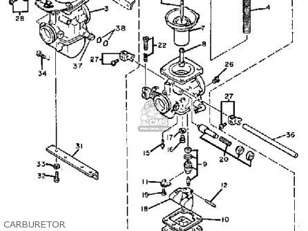 Yamaha Xs400k Maxim 1983 parts list partsmanual partsfiche