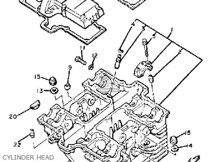 Yamaha XS400R SECA 1983 (D) USA parts lists and schematics