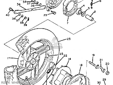 Yamaha Xs400r Seca 1983 (d) Usa parts list partsmanual