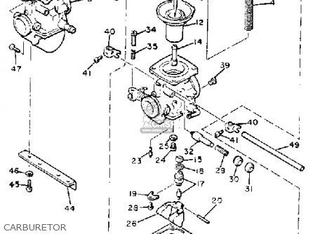 Yamaha Xs400rj Seca 1982/1983 parts list partsmanual