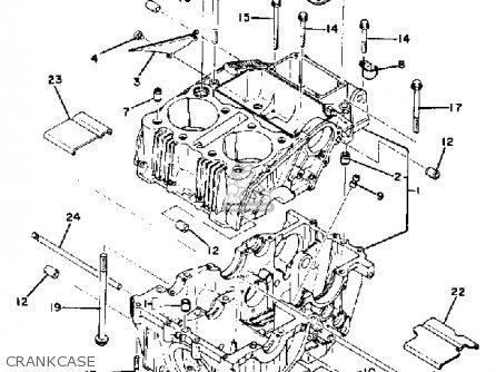 Yamaha Xs400sg 1980 parts list partsmanual partsfiche