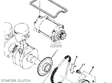 Yamaha Xs400sh 1981 parts list partsmanual partsfiche