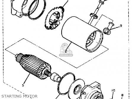 Yamaha Xs400sj Heritage 1982 parts list partsmanual partsfiche