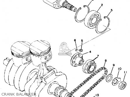 Yamaha XS500 1976 USA parts lists and schematics