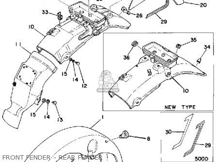 Yamaha Xs500 1976 Usa parts list partsmanual partsfiche