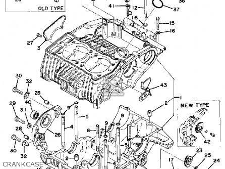 Yamaha Xs500 1977 Usa parts list partsmanual partsfiche