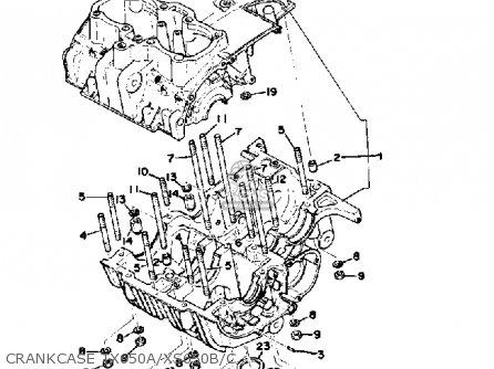 Yamaha Xs650 1975 Usa parts list partsmanual partsfiche