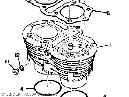 Yamaha XS650 1975 USA parts lists and schematics