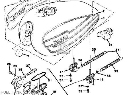 Yamaha Xs650 1976 Usa parts list partsmanual partsfiche