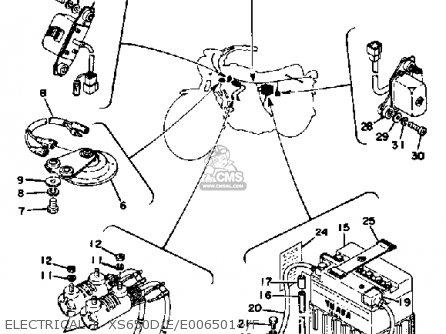 Yamaha Xs650 1977 Usa parts list partsmanual partsfiche
