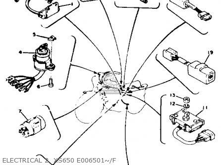 Yamaha XS650 1977 USA parts lists and schematics