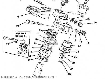 Yamaha Xs650 1977 Usa parts list partsmanual partsfiche