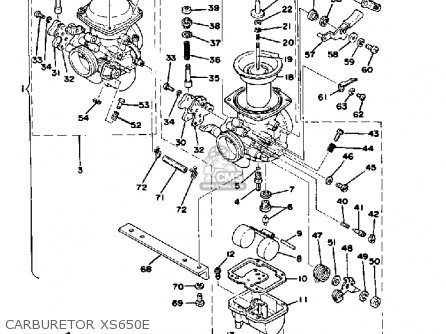 Yamaha Xs650 1978 Usa parts list partsmanual partsfiche