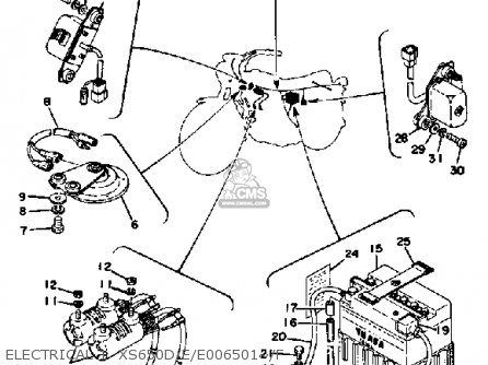 Yamaha XS650 1978 USA parts lists and schematics