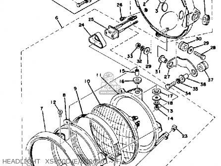Yamaha Xs650 1979 Usa parts list partsmanual partsfiche