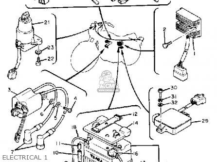 Yamaha Xs650 1980 (a) Usa parts list partsmanual partsfiche