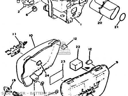 Yamaha Xs650-2f 1979 parts list partsmanual partsfiche