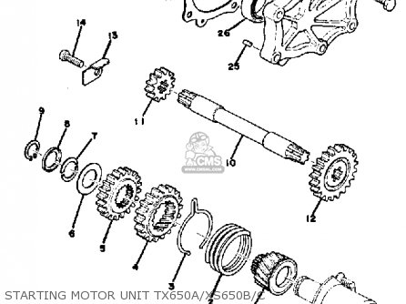 Yamaha Xs650 B 1974-1976 parts list partsmanual partsfiche