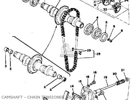 Yamaha Xs650 C 1974-1976 parts list partsmanual partsfiche