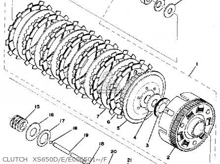 Yamaha Xs650f 1977-1979 parts list partsmanual partsfiche