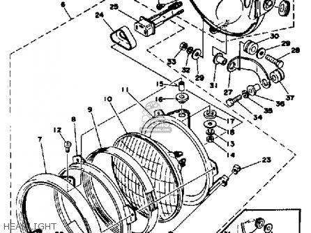 Yamaha Xs650s 1978 Usa parts list partsmanual partsfiche