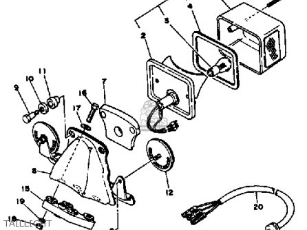 Yamaha XS650S 1978 USA parts lists and schematics