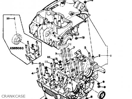 Yamaha XS650S 1980 (A) USA parts lists and schematics