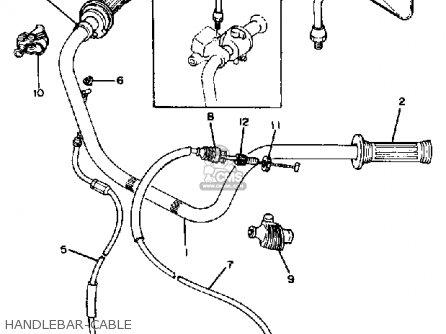 Yamaha Xs650s 1980 (a) Usa parts list partsmanual partsfiche