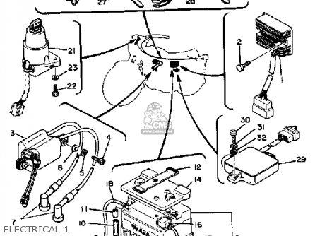 Yamaha Xs650sg 1978-1980 parts list partsmanual partsfiche