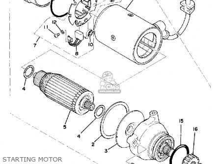 Yamaha XS750 1977 USA CANADA parts lists and schematics
