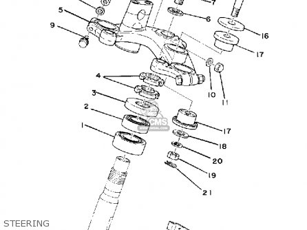 Yamaha Xs750-2 1977 Usa Canada parts list partsmanual