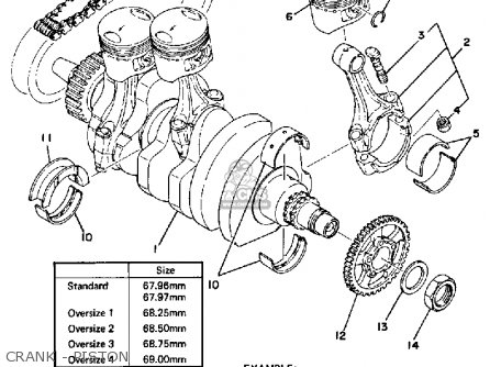 Yamaha Xs750-2d 1977 parts list partsmanual partsfiche