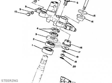 Yamaha Xs750se-311211 1979 parts list partsmanual partsfiche