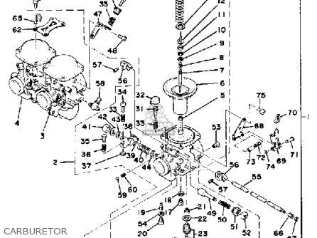 Yamaha Xs750sf 1979 parts list partsmanual partsfiche