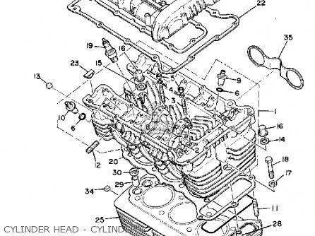 Yamaha Xs850 1981 (b) Usa parts list partsmanual partsfiche