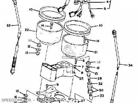 Yamaha Xs850g 1980 parts list partsmanual partsfiche