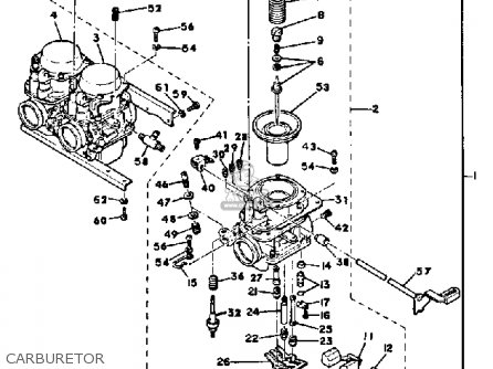 Yamaha Xs850l 1980 (a) Usa parts list partsmanual partsfiche